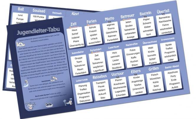 Tabu Karten Online